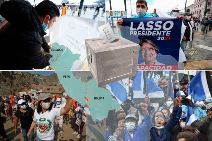 Перу, Еквадор и Боливия гласуват едновременно в изборната супернеделя 11 април. Снимка: vanguardia.com