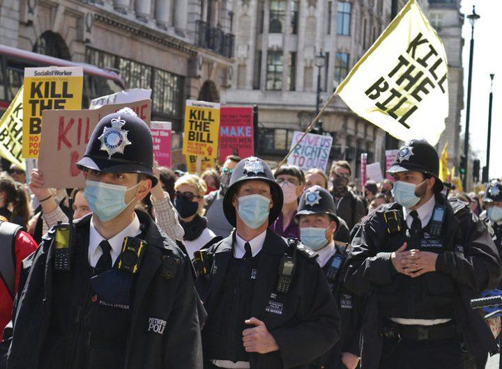Протест срещу новия криминален закон в Лондон. снимка  Steve Eason, Flickr