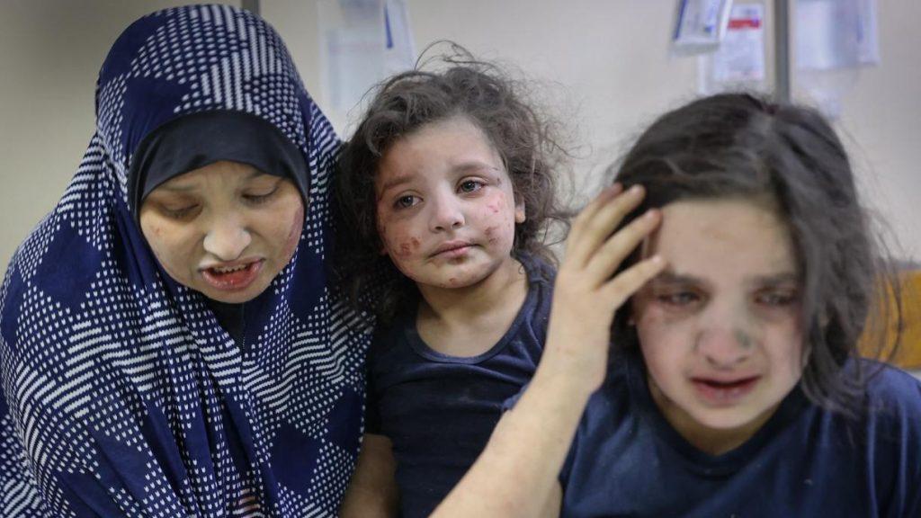 В очите на децата в Газа се оглежда войната. Снимка: trt.net.tr