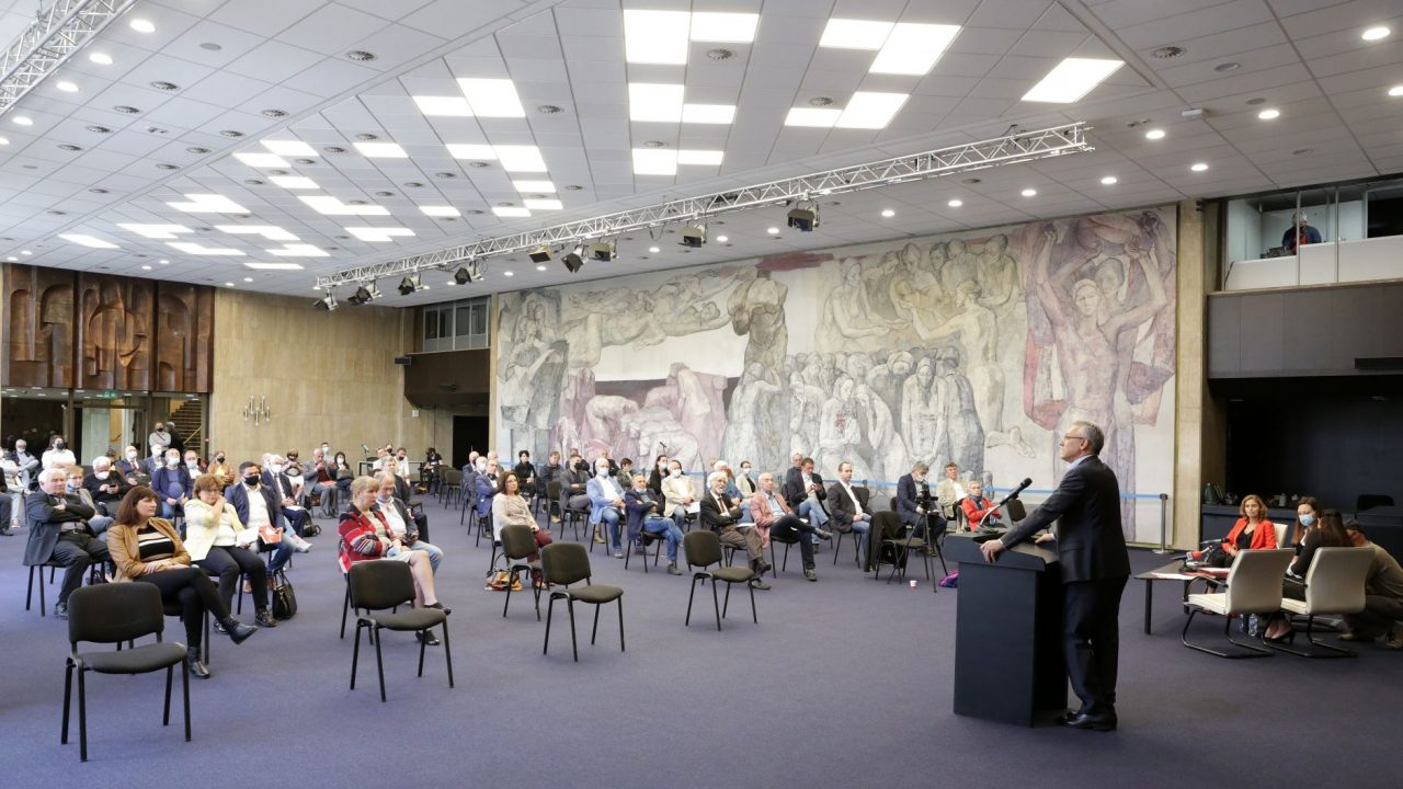 """По време на учредяването на Платформа """"Социализъм 21 век"""" в зала 6 на НДК на 15 май т. г."""
