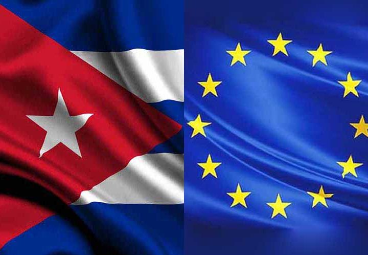 Cuba-UE-banderas
