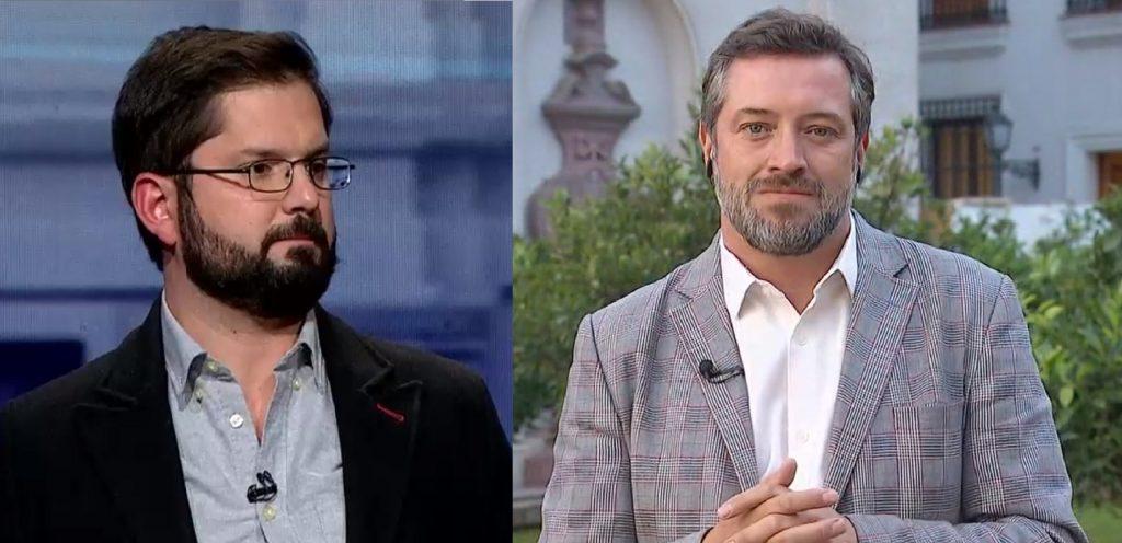 """Габриел Борич (вляво) естава кандидат-президент на левия съюз """"Подкрепям достойнството"""", а Себастиан Сишел - на десния """"Напред, Чили"""". Снимка: radioimagina.cl"""