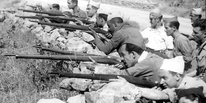 Испанската гражданска война, в която се включват и интернационални бригади, става първият решителен отпор срещу настъпващия фашизъм. Снимка: historiaespana.es