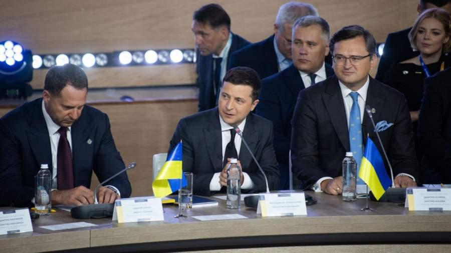 """Володимир Зеленски при откриването на """"Кримска платформа"""" в Киев. Снимка: president.gov.ua"""