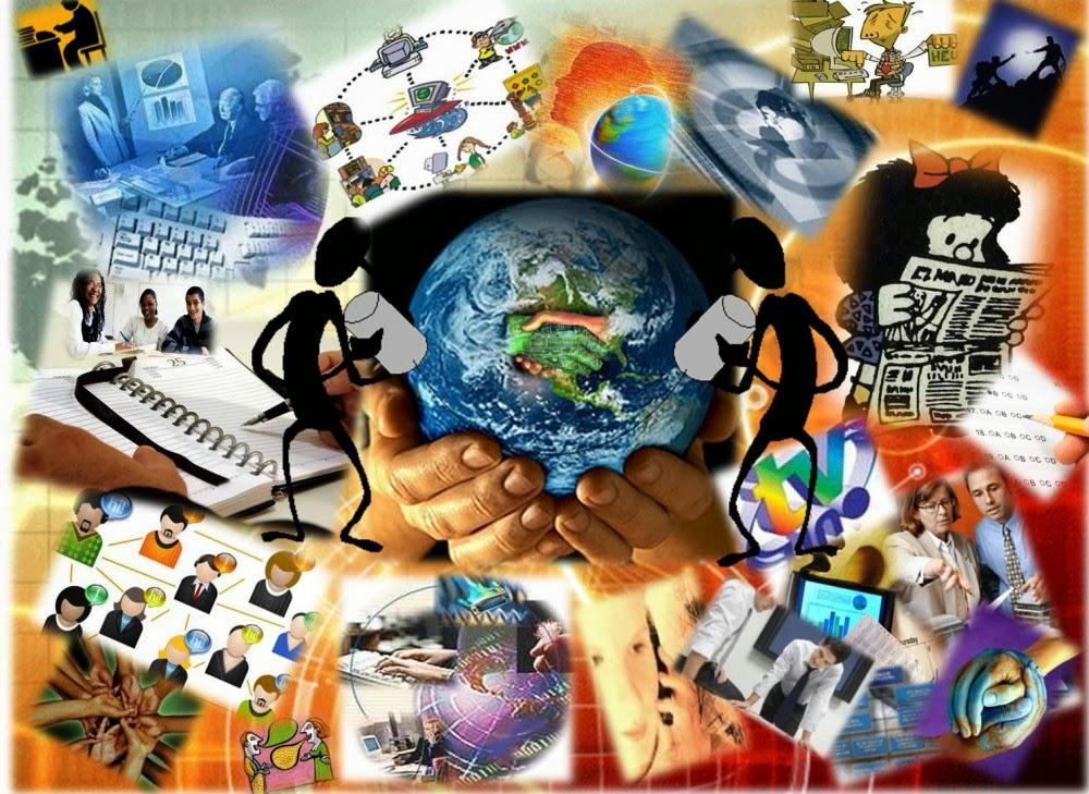 Информационната епоха  преобразява и начина на производство, и реакцията на обществените отношения. Илюстрация: app.emaze.com
