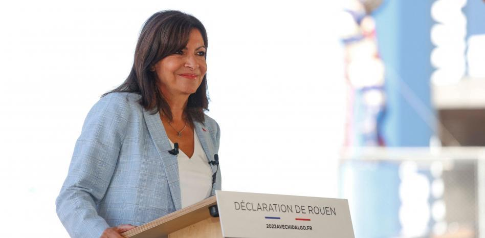 Ан Идалго по време на речта си в Руан, с която обяви своета президентска кандидатура. Снимка: lavanguardia.com