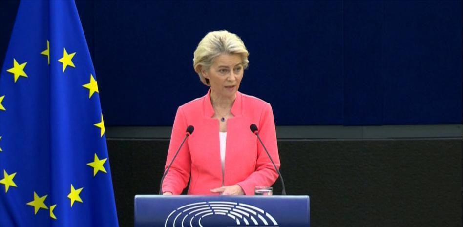 Урсула фон дар Лайен по време на речта си в Европейския парламент на 15 септември т. г. Снимка: lavanguardia.com