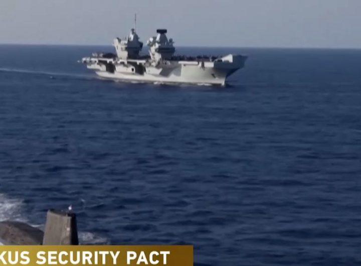 Морската шир в индо-азиатско-тихоокеанския регион се нажежава все повече от меренето на военни мускули между САЩ и Китай. Снимка: newseu.cgtn.com