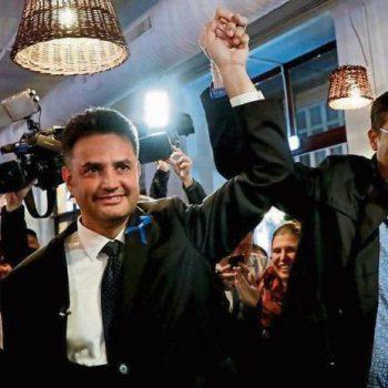 Консерваторът Петер Марки-Зай (вляво) победи във вътрешните избори за общ опозиционен кандидат-премиер благодарение на подкрепата на либерала Гергели Каращони (вдясно). Снимка: lavanguardia.com