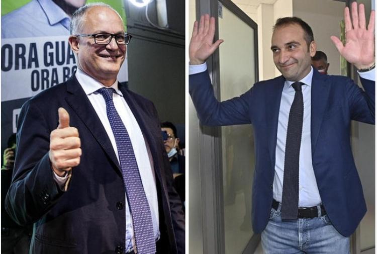 Роберто Гуалтиери (вляво) става кмет на Рим, а Стефано Ло Русо (вдясно) - на Торино. Снимка: italiaoggi.it