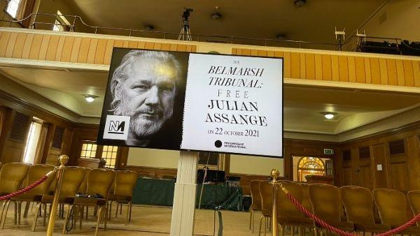 "Трибуналът ""Белмарш"" изиска свобода за Джулиан Асандж. Снимка: telesur.net"