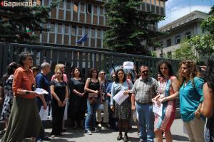 """Протестиращите повториха исканията си съдбата на """"Радио България"""" да се реши само след широк и публичен професионален и обществен дебат, като структурата бъде съхранена, защото е елемент от външната политика и националната сигурност на България"""