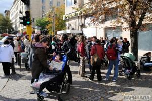 Недоволните родители бяха с децата си на протеста